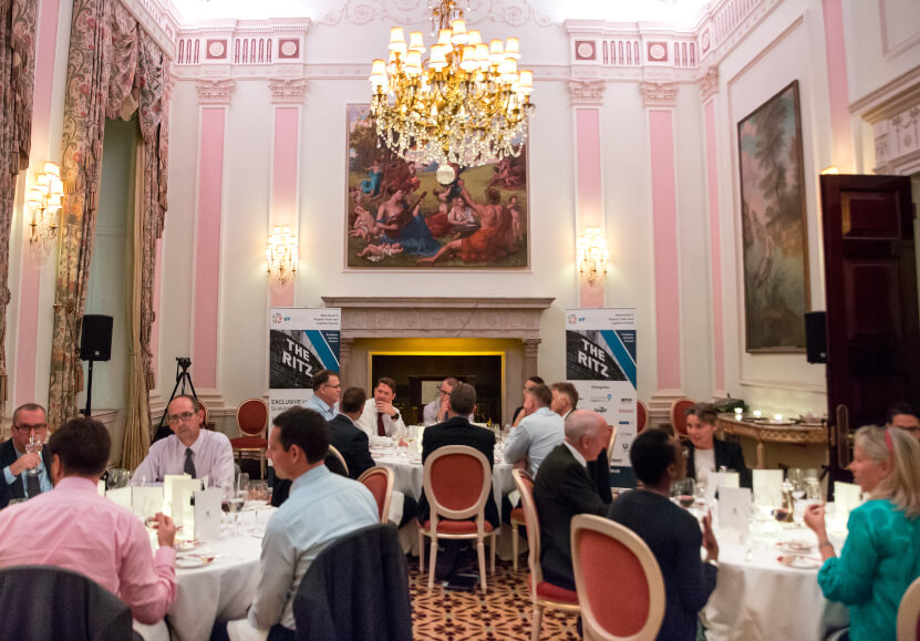 Attending a round table event at the 5 star Ritz Hotel in Central London.
